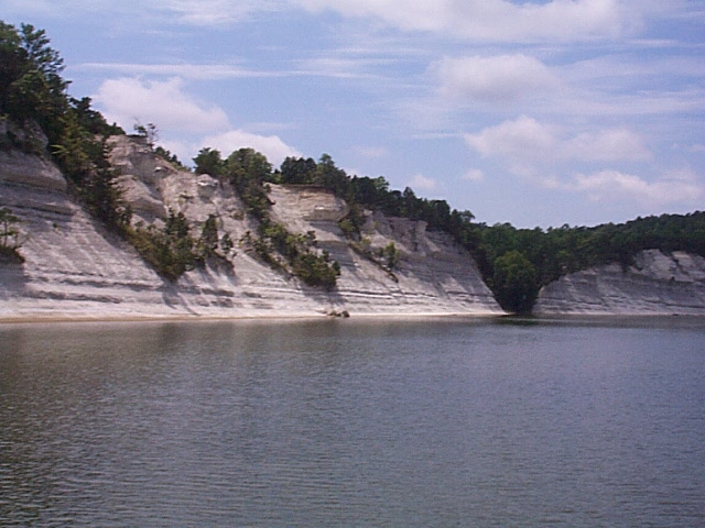 White cliffs at Epes, Alabama