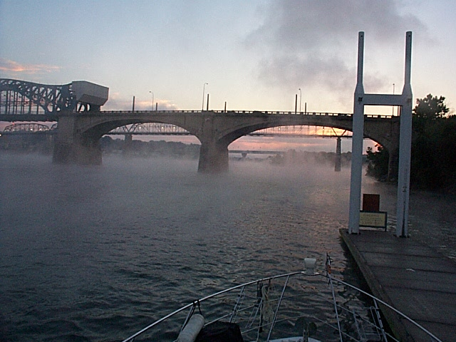 Morning mists in Chattanooga