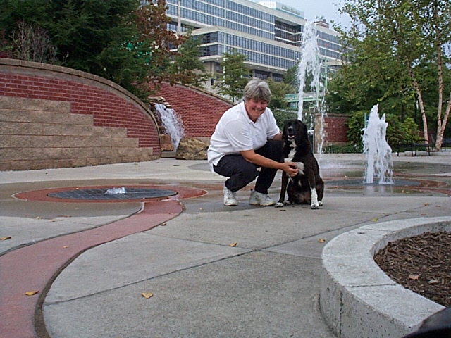 Coleen and Maggie enjoy Knoxville's River Walk