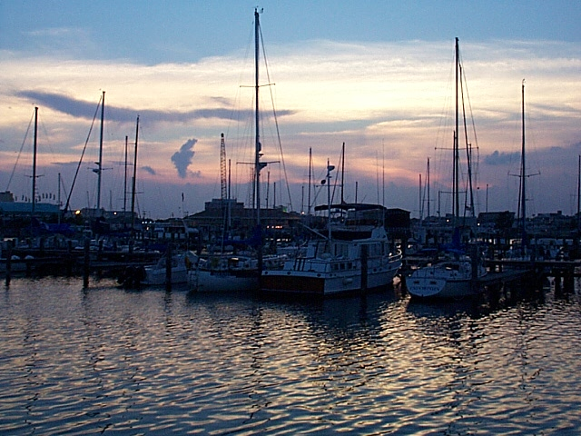 Sunset at Gulfport Harbor