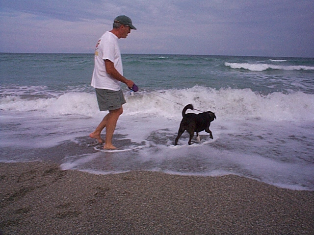 Maggie discovers that salt water does not taste so good.