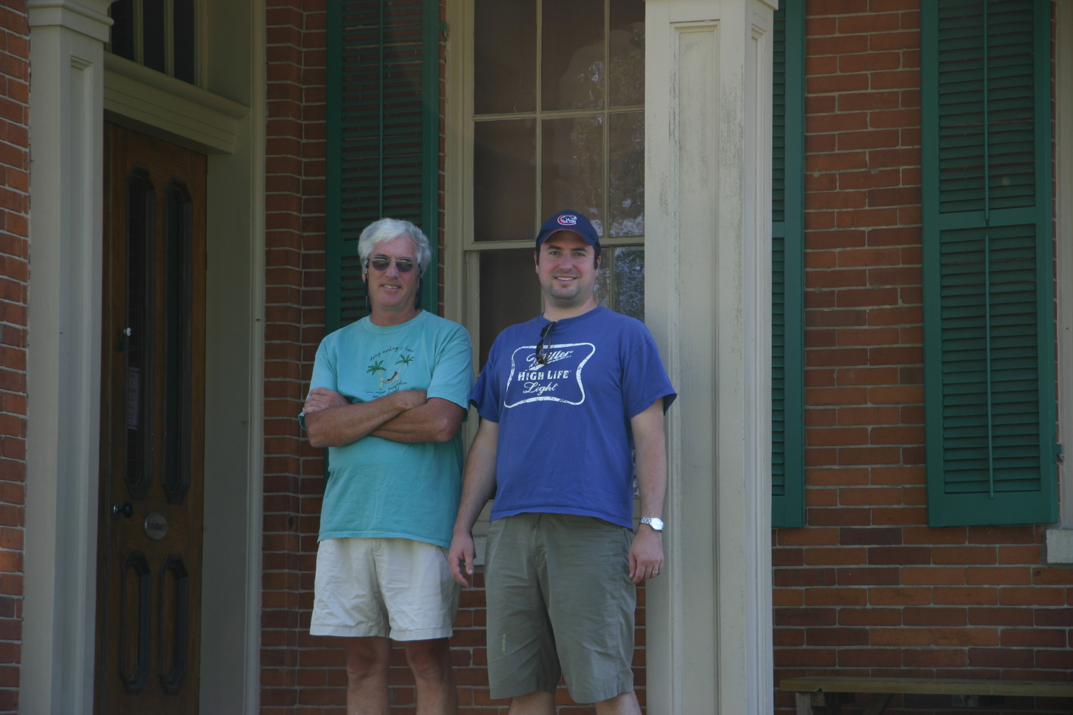 Gary and Jon on U.S. Grant's front porch, Galena, IL