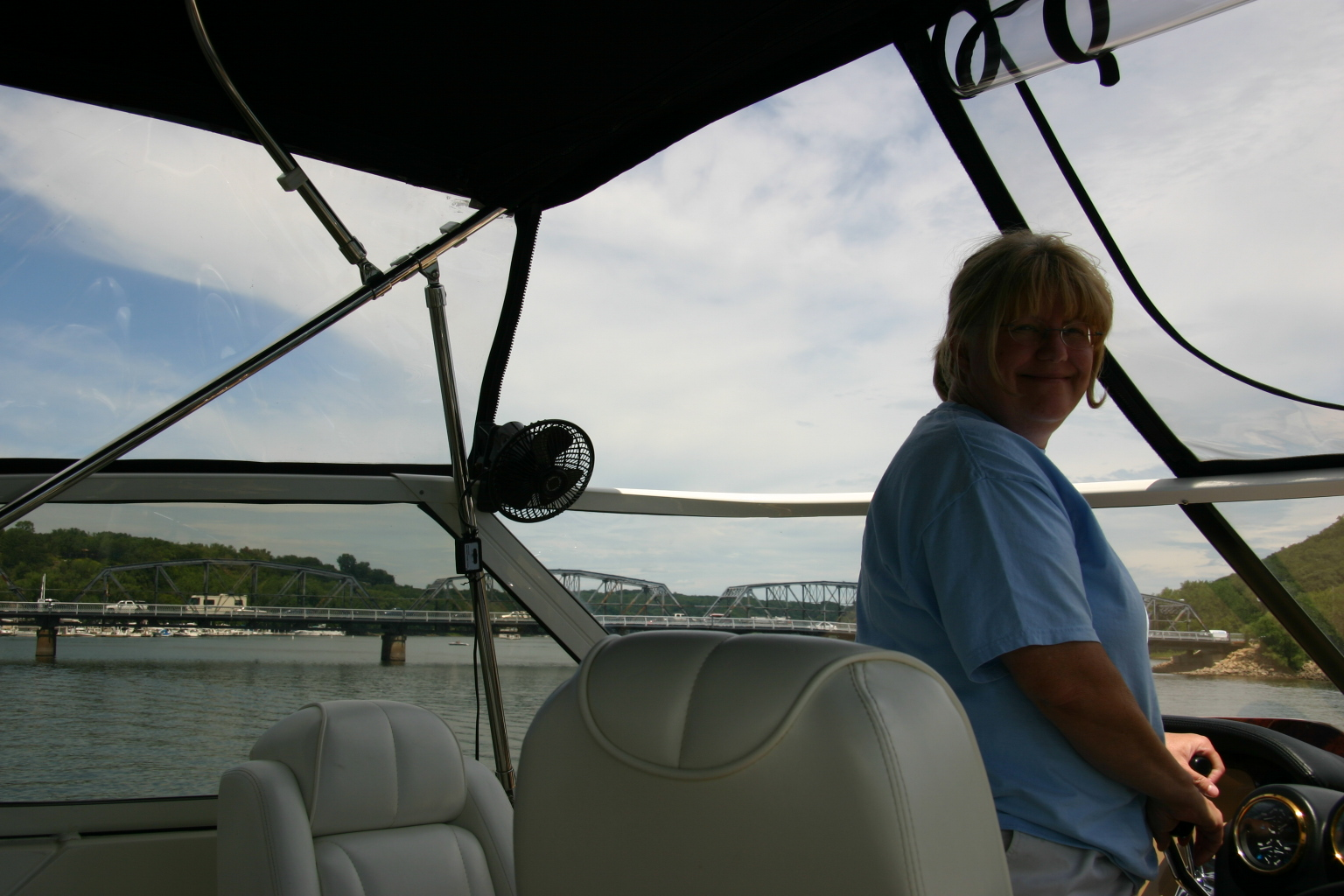 Capt. Coleen views the Stillwater lift bridge