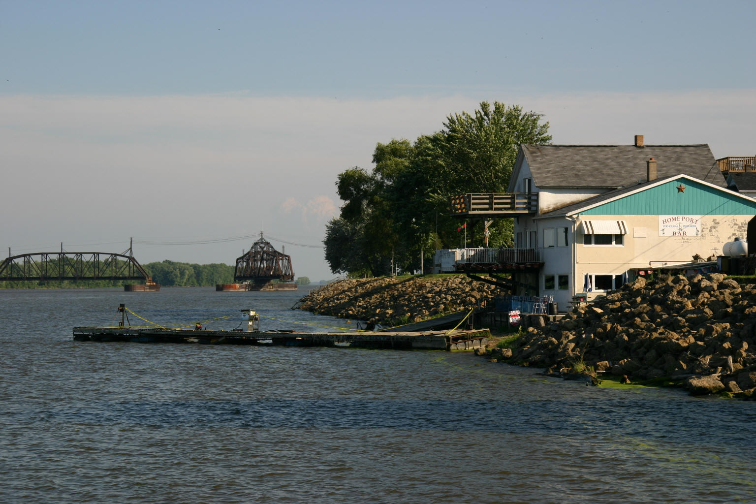 Home Port's dock used to be parallel to the shore