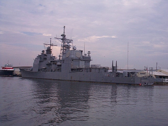 The USS Ticonderoga in Mobile, AL