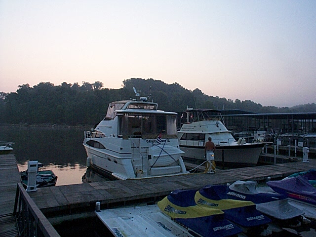 Docked at Eddy Creek Marina, Eddyville, KY